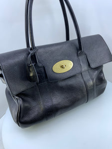 Mulberry Leather Satchel Handbag turnlock