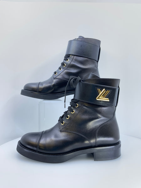 Louis Vuitton Wonderland Flat Ranger Lace Up Booties Size 39