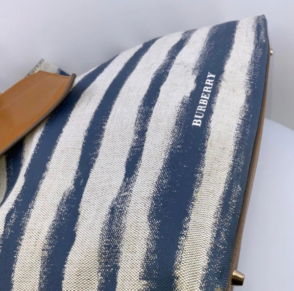 Burberry Striped tote - Authenticated