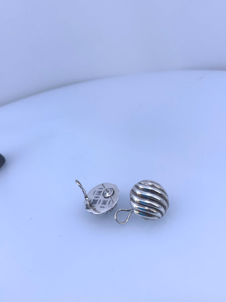 David Yurman Round Cable Earrings Sterling Silver