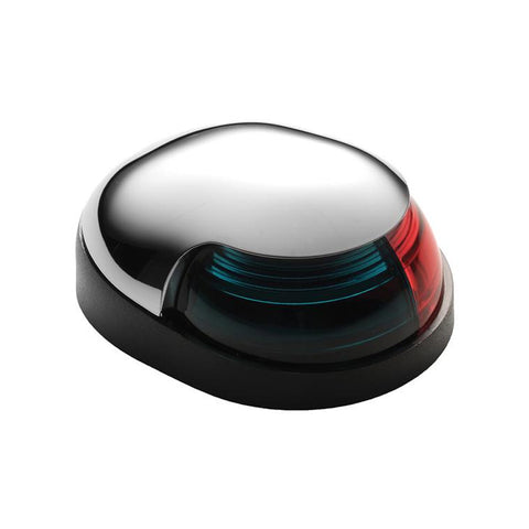 Attwood Quasar 2-Mile Deck Mount, Bi-Color Red-Green Combo - 12V - HIPP-Chrome Housing w-Black Base [3123-7]