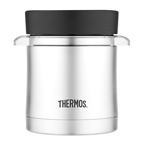 Thermos Vacuum Insulated Food Jar w-Microwavable Container - 12 oz. - Stainless Steel [TS3200TRI6]