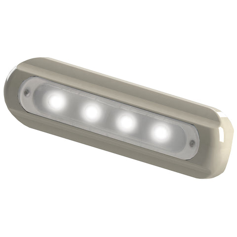 TACO 4-LED Deck Light - Flat Mount - White Housing [F38-8800W-1]