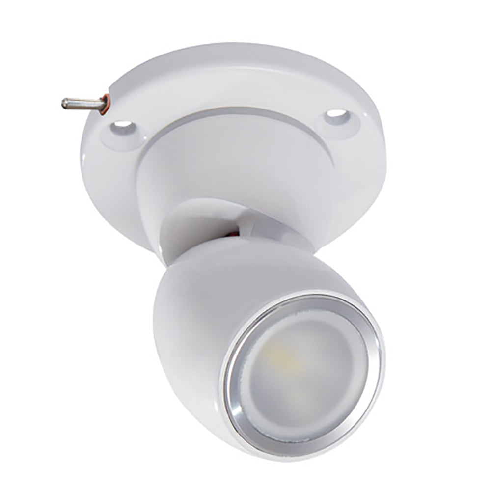 Lumitec GAI2 White Light - Heavy-Duty Base w-Built-In Switch - White Housing [111923]