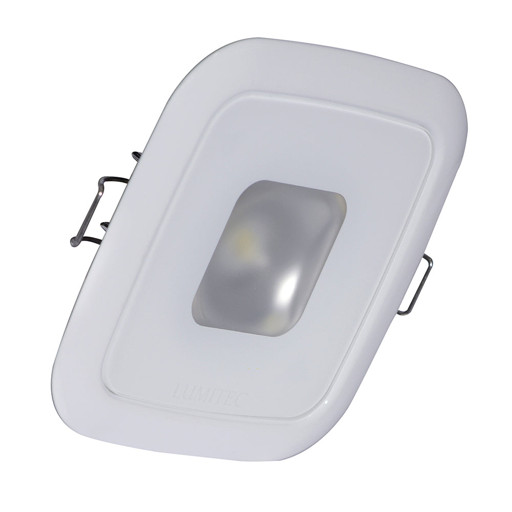Lumitec Square Mirage Down Light - Warm White Dimming, Hi CRI - White Bezel [116129]