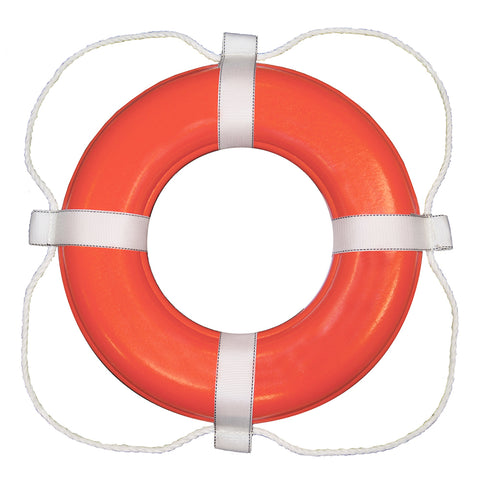 "Taylor Made Foam Ring Buoy - 24"" - Orange w-White Rope [364]"