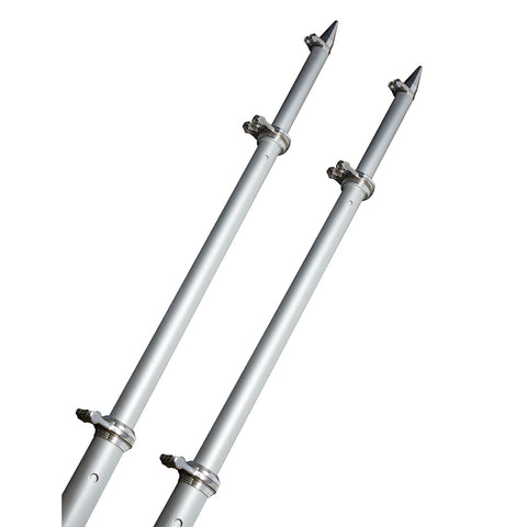 TACO 18 Deluxe Outrigger Poles w-Rollers - Silver-Silver [OT-0318HD-VEL]