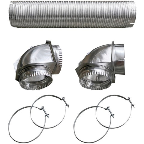 Semi-Rigid Dryer Vent Kit with Close Elbow(R)