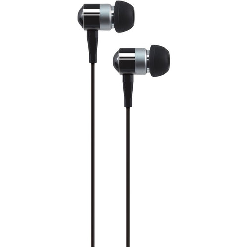 PEBM02 In-Ear Aluminum Stereo Earbuds with Microphone (Black)