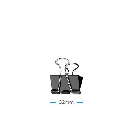 "Clip Billetero 32mm (1 ¼"") – Negro"
