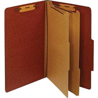 Folder Partition 2 Partes/6 Divisiones Rojo