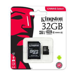 Memoria MicroSD Kingston SDHC De 32 GB Con Adaptador SD