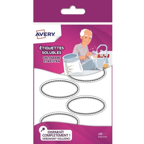 Avery - Etiquettes solubles