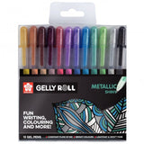 Gelly roll metallic 12 stylos bille