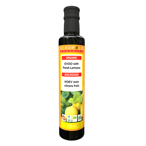Organic Extra Virgin Olive Oil with Fresh Lemons, 250 mL