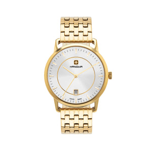 MODERN, SWISSMADE WOMAN'S WATCH IN STAINELSS STEEL GOLD IP WITH SILVER DIAL STARTING FROM 219