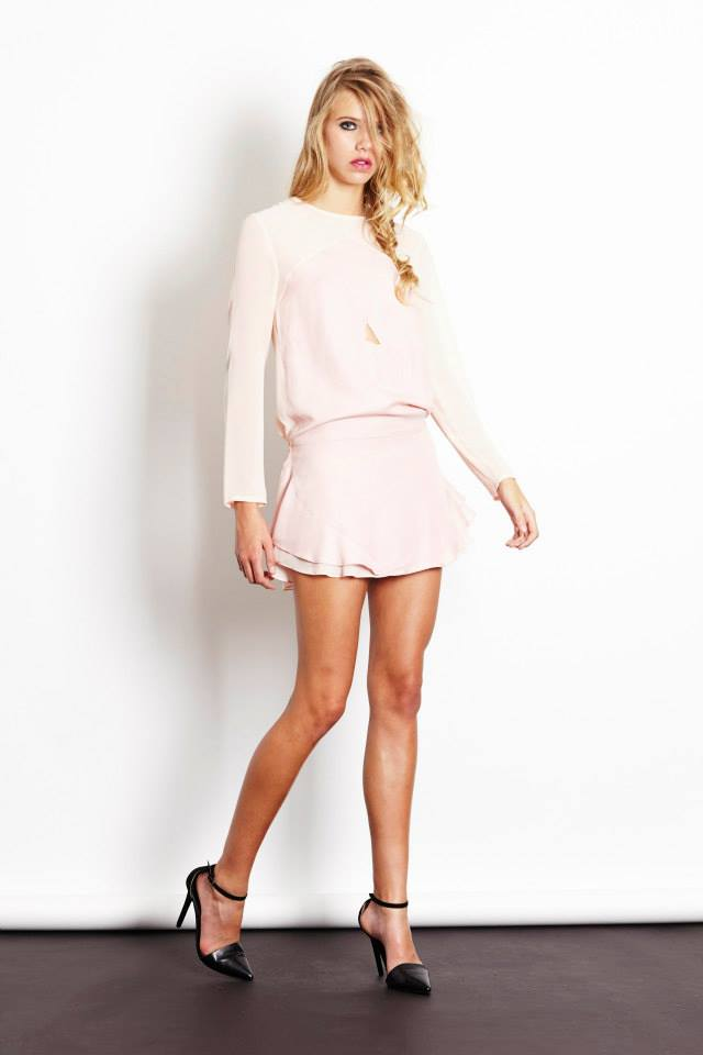 Desert night dress in pink