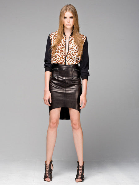 Force of nature leather skirt