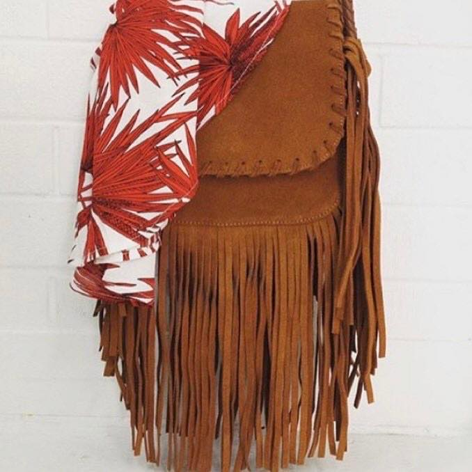 The Tan fringed bag  - Story Of Tomorrow - Collection