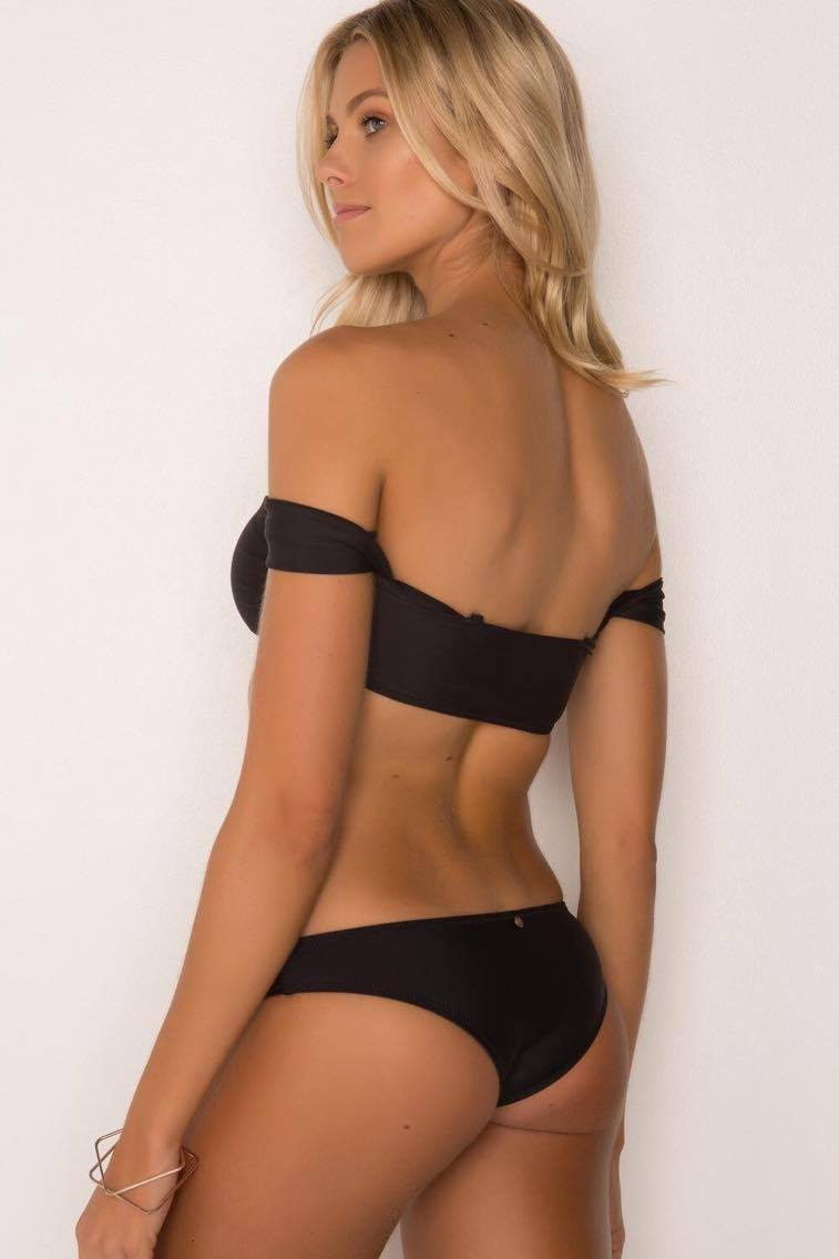 Sleeved Bandeau/ cruise black bottoms