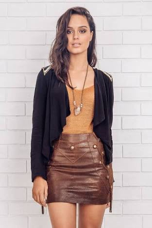 Minka leather skirt Sierra