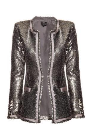 Shimmer Street Metal Sequin Jacket