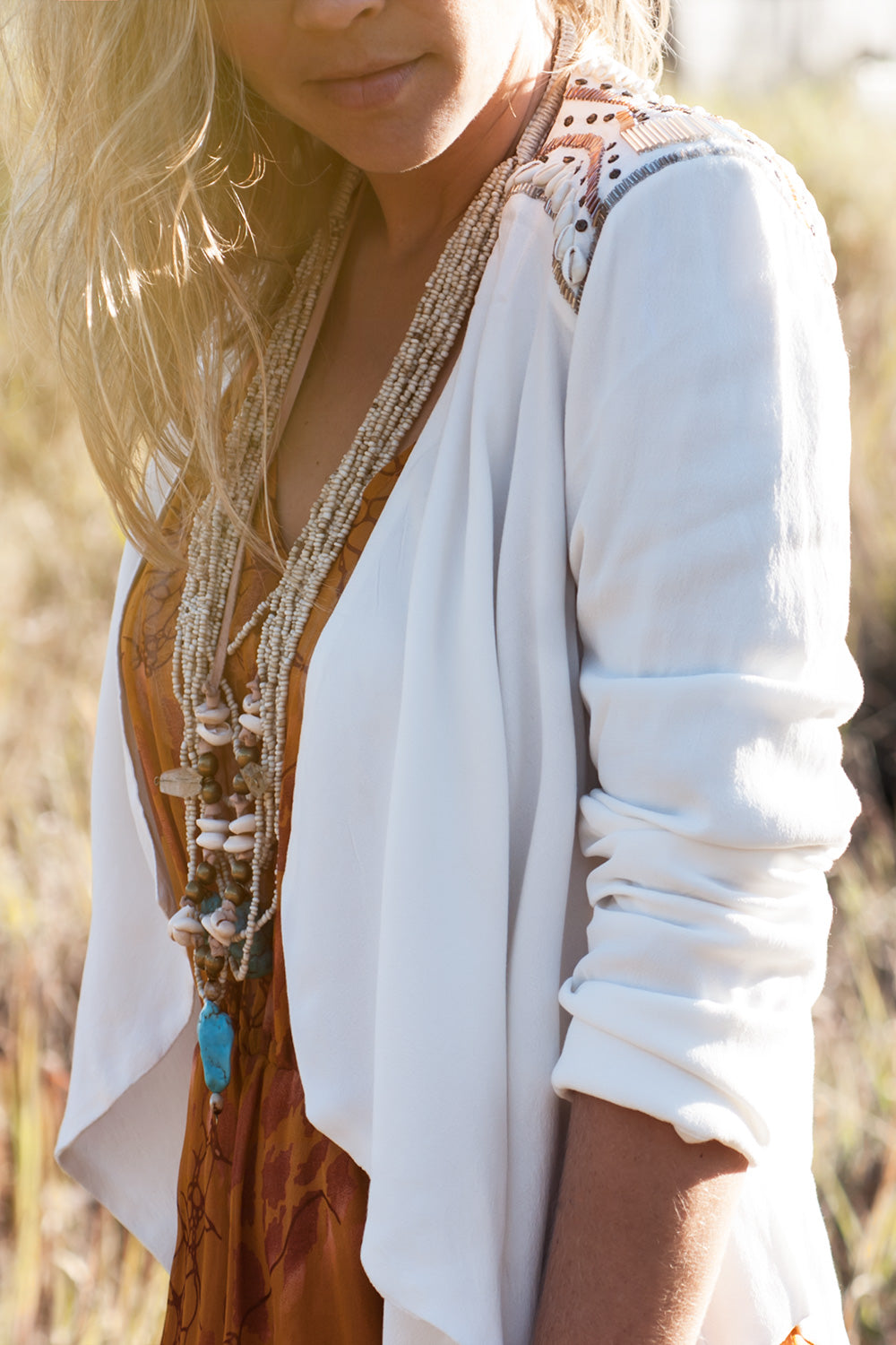 The Zahra Beaded Blazer