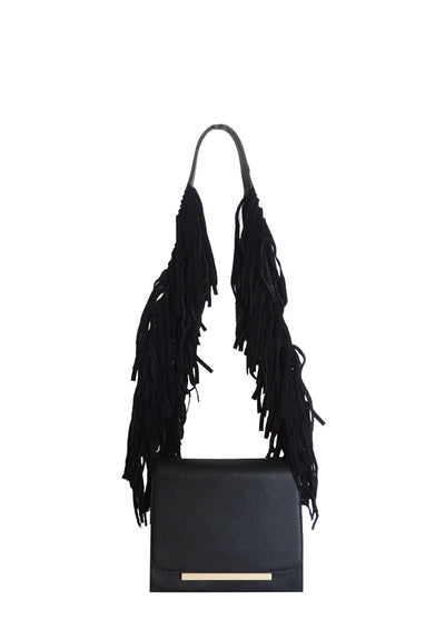 Hands Off - black tassel bag