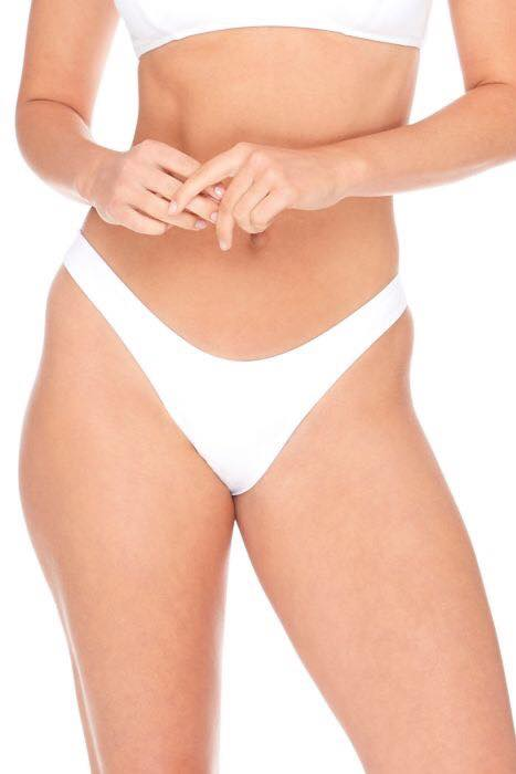 white high leg bikini bottoms