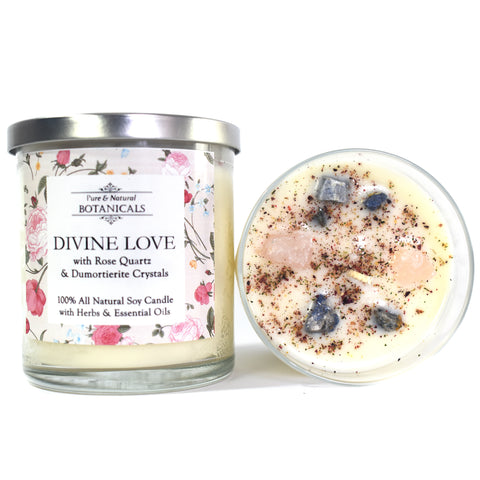 Divine Love Pure & Natural Soy Candle (100% Natural) for Hope, Trust, Support & Universal Love