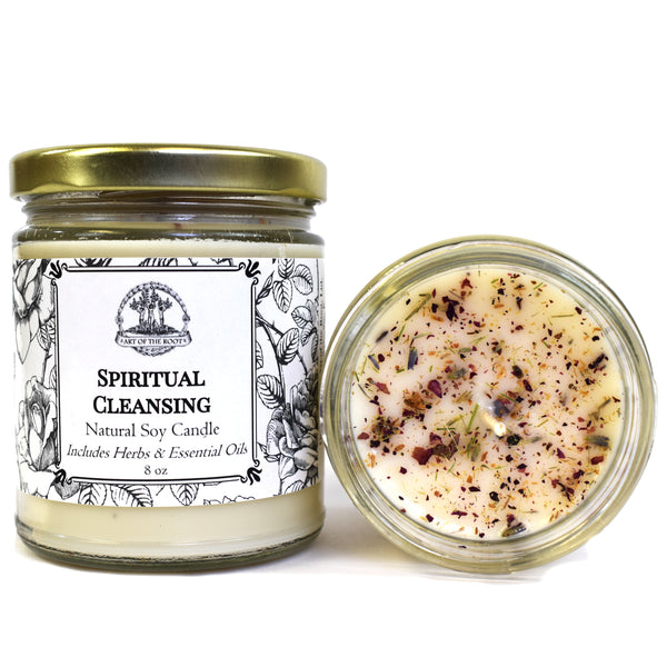 Spiritual Cleansing & Meditation Soy Candle for Intuition, Clarity & Purification