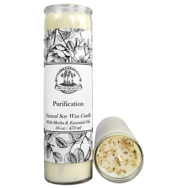 Purification 7 Day Soy Prayer Candle for Negativity & Cleansing Rituals