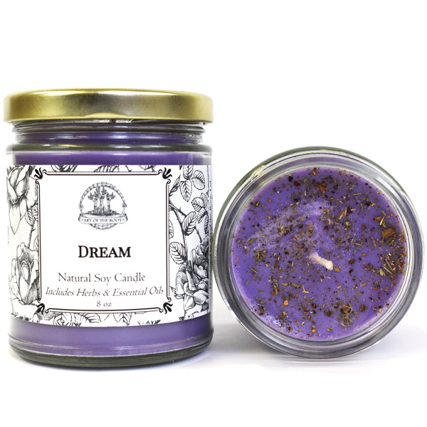 Dream Soy Candle for Prophetic Dreams, Visions, Intuition & Insight