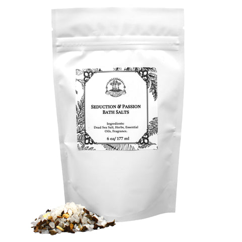 Seduction & Passion Bath Salts for Hoodoo, Voodoo, Wicca & Pagan Spells