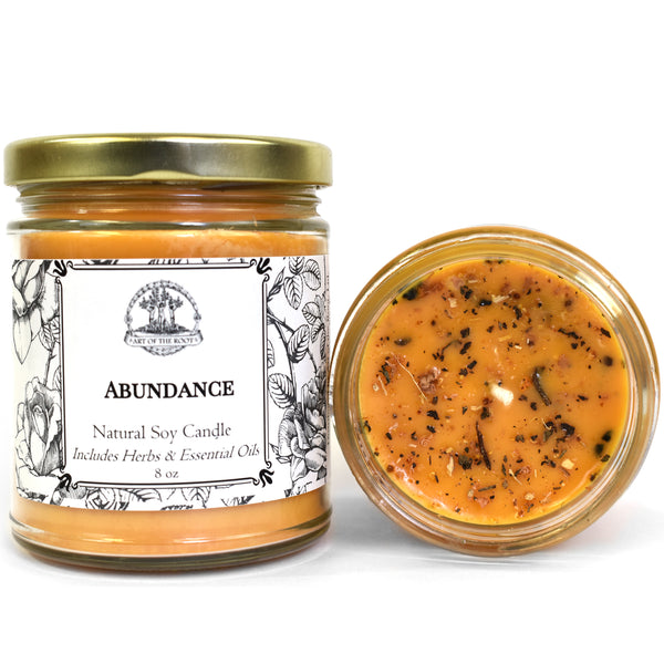 Abundance Soy Candle for Prosperity, Good Fortune & Success