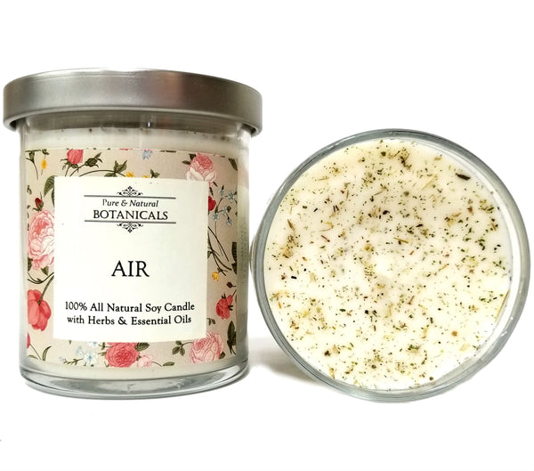 Air Elemental Pure & Natural Soy Candle (100% Natural) for Change, New Ideas & Communication