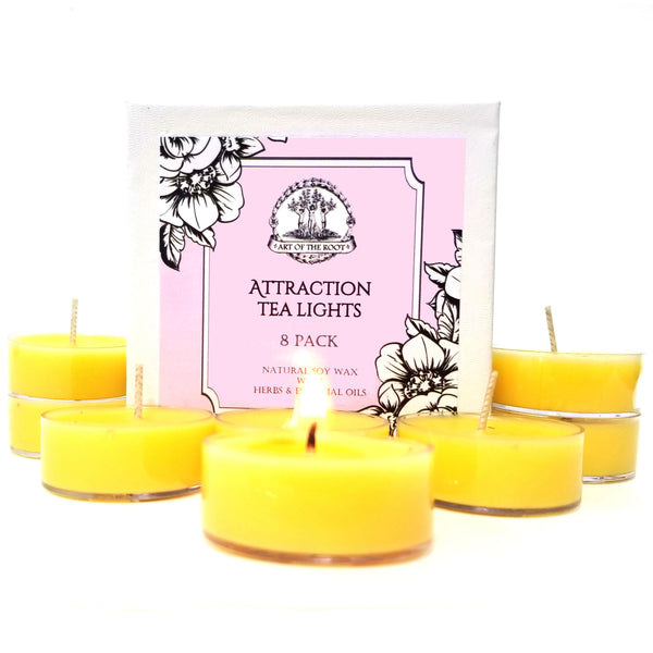 Attraction Soy Tea Light Candles (8 Count) for Love, Money, Work, Success, Prosperity, Relationships