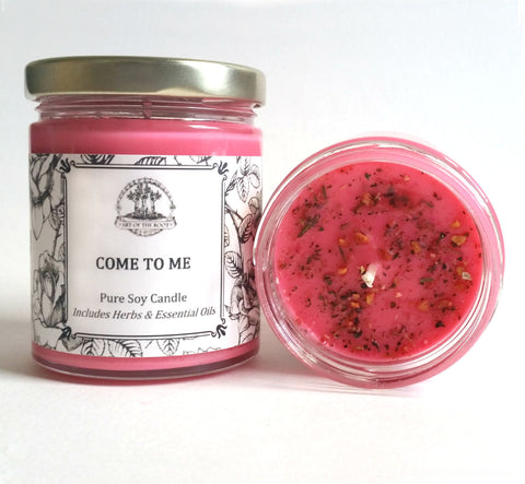 Come To Me Soy Candle Hoodoo Wiccan Pagan Voodoo Spells & Rituals