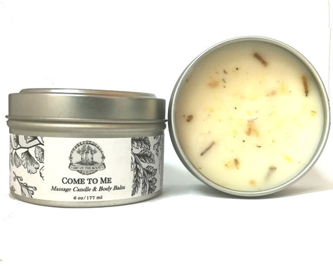 Come To Me Ritual Massage Candle & Body Balm for Attraction, Love & Passion Hoodoo Wiccan Pagan Conjure