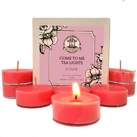 Come to Me Soy Tea Light Candles (8 count) for Love, Passion, Relationships, Attraction, Seduction and Romance