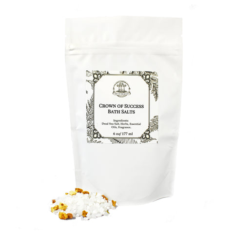 Crown of Success Bath Salts 6 oz for Hoodoo, Voodoo, Conjure, Wicca & Pagan Rituals