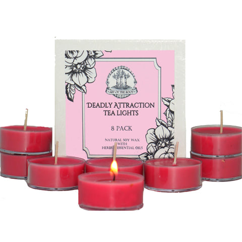 Deadly Attraction Soy Tea Light Candles for Passion, Lust, Infatuation, Seduction, & Romance