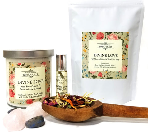 Divine Love Pure & Natural Ritual Kit for Compassion, Trust, Faith & Hope