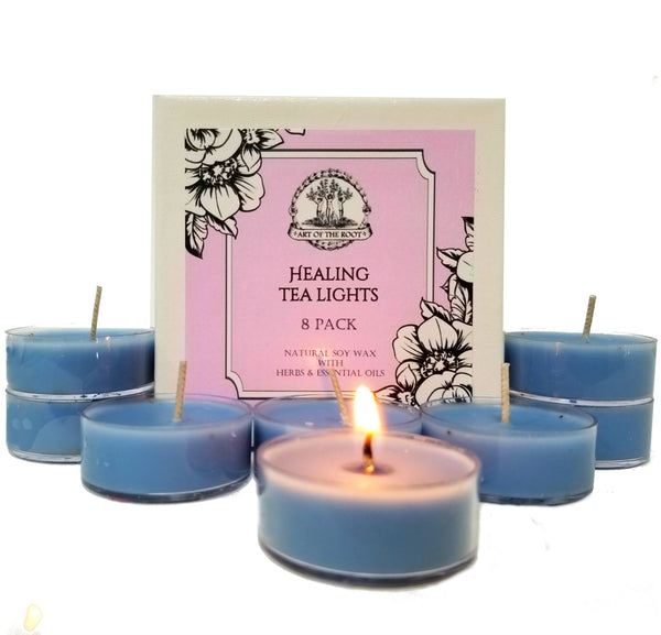 Healing Soy Tea Light Candles for Grief, Sadness, Heartache, Stress & Emotional Turmoil