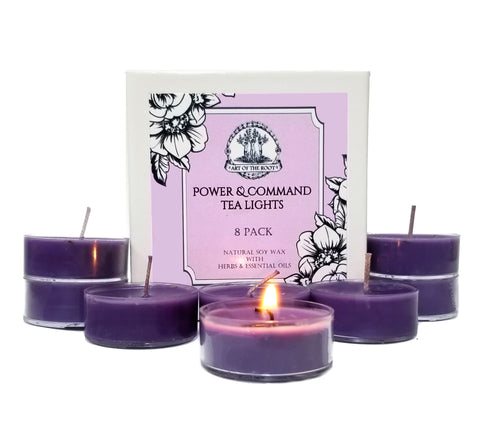 Power & Command Soy Tea Light Candles for Influence, Persuasion, Control & Dominance