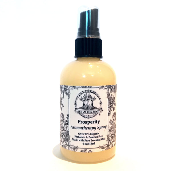 Prosperity Aromatherapy Spray Over 90% Organic, Vegan. Phthalate and Paraben Free