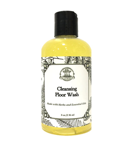 Cleansing Floor Wash for Negativity & Purification with Antibacterial Herbs & Essential Oils