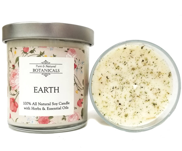 Earth Elemental Pure & Natural Soy Candle (100% Natural) for Manifestation, Prosperity & Growth