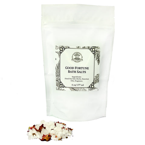 Good Fortune Herbal Bath Salts for Blessings, Healing, Luck & Wishes