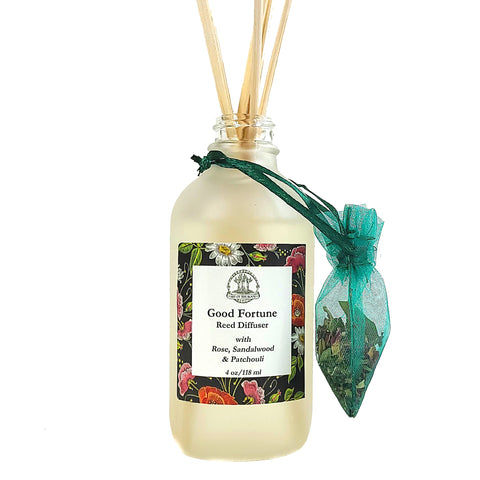 Good Fortune Reed Diffuser for Blessings, Luck & Abundance